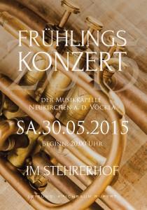 Konzerteinladung MV Neukirchen Außenseite 2015
